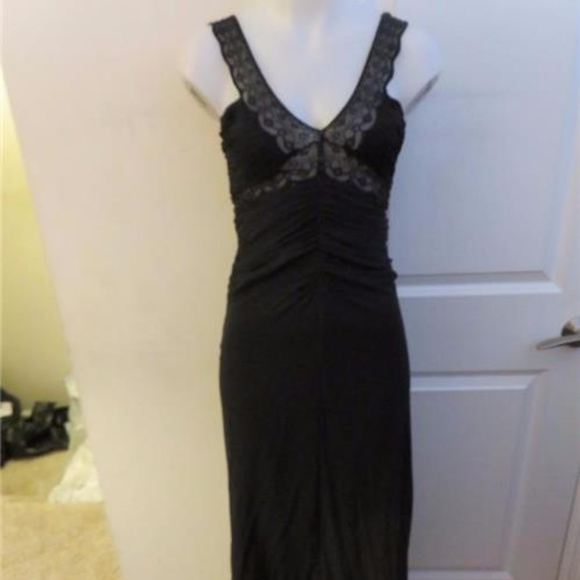 CHRISTYNE FORTI Dresses | Silk Black Beaded Evening Gown 4 | Poshmark